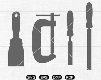 Tools SVG, Tools Clipart, cricut, silhouette cut files commercial use