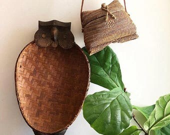 Woven Basket - Owl