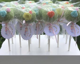 Vintage Tea Party Themed Cake Pops