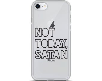 Phone Case / iPhone Case / Funny iPhone Case / iPhone X / iPhone 8 / iPhone 7 / 8 Plus / 7 Plus / Not Today Satan / Christmas Gift