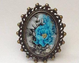 """""""BLUE FLOWER"""" RING"""