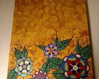 Mandala flower painting