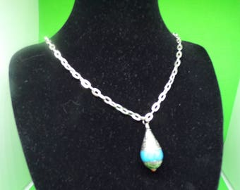 Blue necklace with Pendant (nepal bead)