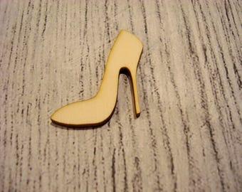 Set of 2 shoe 1235 embellishment wooden creations