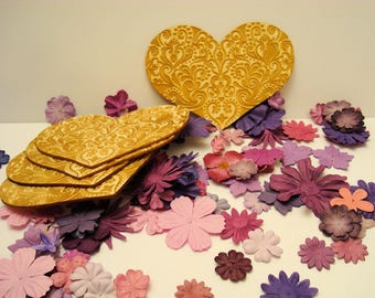 10 x 14 cm 1536 embellishment for your creations wooden heart