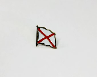 Alabama State Flag Pin