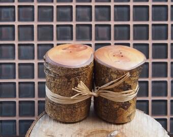 Huon Pine Salt and Pepper Shackers