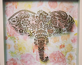 Elephant Shadow Box