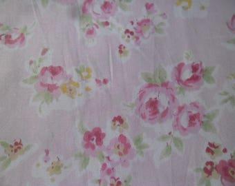 50 x 50 cm cotton fabric pink patchwork light flower pattern