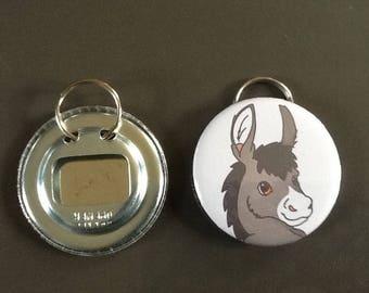 Door keys/bottle opener donkey
