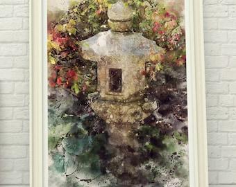 Watercolor Garden - Digital Art