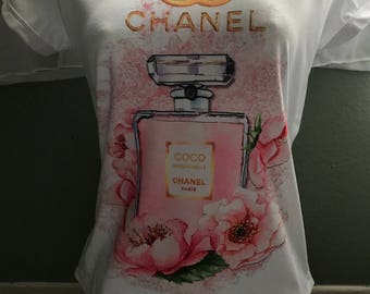 Pink chanel perfume Inspired T-shirt