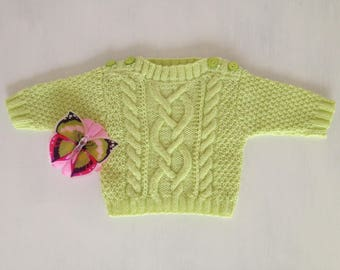 Small cable knit sweater size newborn
