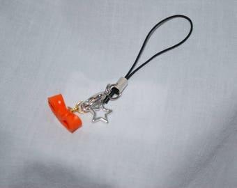Jewelry wearable bow orange