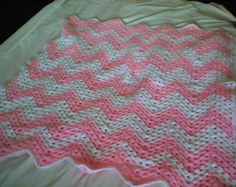 Hand made baby blanket for girl.