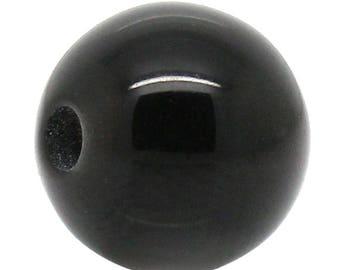 PR8 set of 20 beads 6mm black shamballa resin