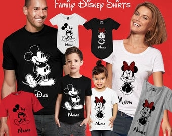 Disney Family Shirts Family Disney Shirts For Family Minnie Mickey Mouse Family Vacation Shirts Matching Family T Shirt Top Tshirt Tee Shirt