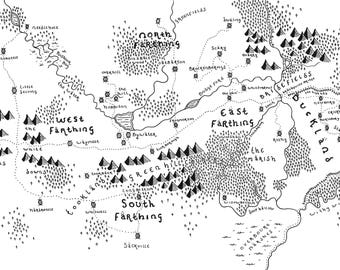 The Shire (Lord of The Rings) - Bespoke Hand-Drawn Map