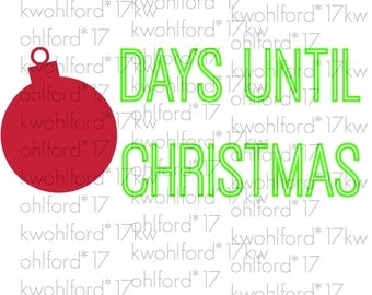 Ornament Days Until Christmas