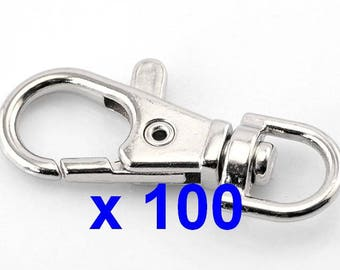 100 large lobster clasp metal lobster claw clasp