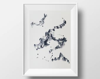 Watercolour Abstract Print 02