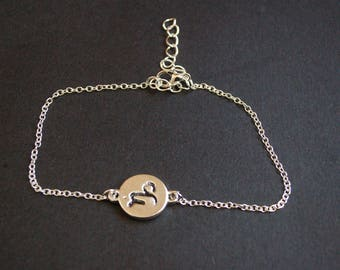 Capricorn zodiac symbol bracelet