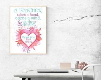 Customised Teacher Quote/Gift
