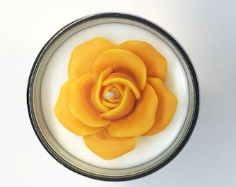 Orange Rose_Natural Handmade glass candle