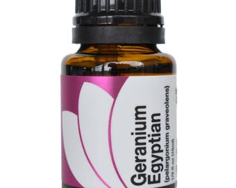 Organic Geranium Egyptian Essential Oil 5ml, 15ml, or Buy Both & Save!