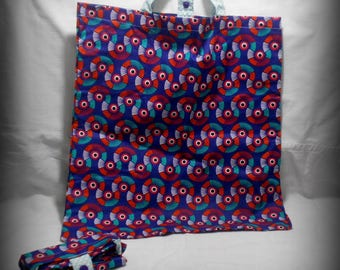 printed cotton foldable shopping bag
