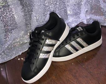 Swarovski Rhinestone Adidas Sneakers