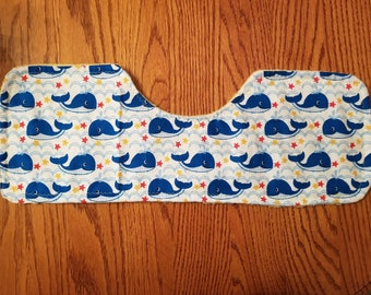 Baby Burp Cloth- Whales