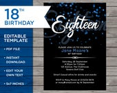 18th Birthday Invitation,...