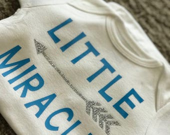 Little miracle baby girl or boy onesie. Any color vinyl of your choice. Babies are such miracle of life!