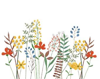 No. 22 card ' field flowers '