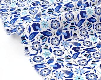 Liberty of London Tana Lawn Bobo blue 83x136cm fabric