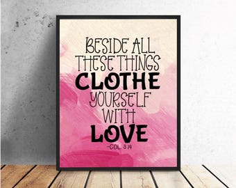 Clothe Yourself with Love/ JW/ Bible Text/ Printable