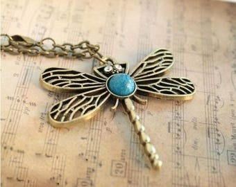 Beautiful Fashion Jewelry Dragonfly Hollow Retro Chain Necklace