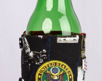 US Army beer cozy