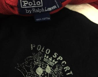 Vintage polo sport ralph lauren tee shirt long sleeve spell out large size
