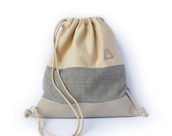 Old Sand drawstring backpack