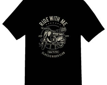 Ride with me classic rider club tee shirt 08012016