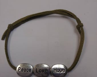 Peace Love Hope Bracelet