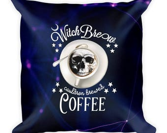 Witchy Coffee Square Pillow