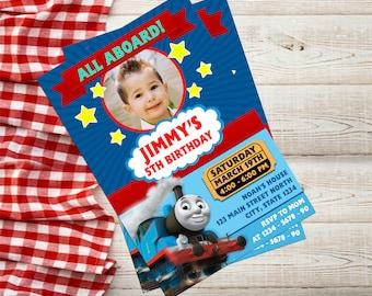 thomas the train invitationthomas the train birthdaythomas the train birthday invitation - Thomas The Train Party Invitations