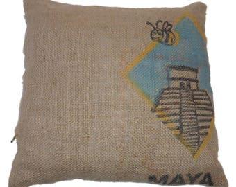 Maya jute canvas pillow