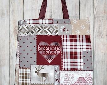 "Bag ""Winter burgundy"" women handbags, shoulder bags, travel bags, bag products, textile bag, bag handmade"