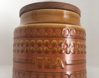 Vintage Hornsea Saffron Tea Storage Jar