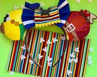 Three Caballeros Donald Panchito José Mexico Epcot Inspired Ears Headband