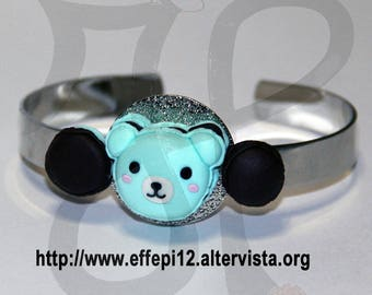 Metal Bracelets with applications in polymer clay